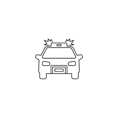 Police carline icon on white. Vector illustration