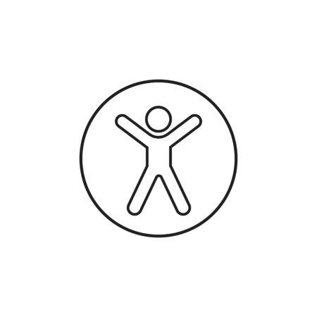 Accessibility line icon universal access vector icon