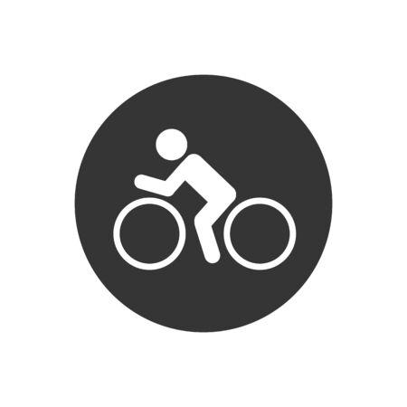 Bike icon vector logo template on gray
