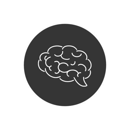 Brain line icon flat. Vector illustration  イラスト・ベクター素材