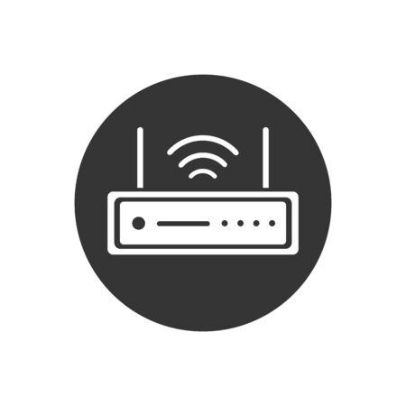 Router Modem Wifi Icon Vector Illustration Illustration