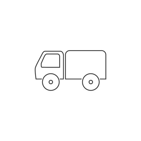 Truck line icon vector. Vector illustration Stock Illustratie