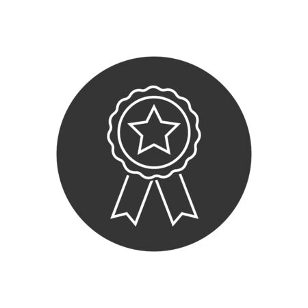 Award line icon symbol vector on white background in modern flat style