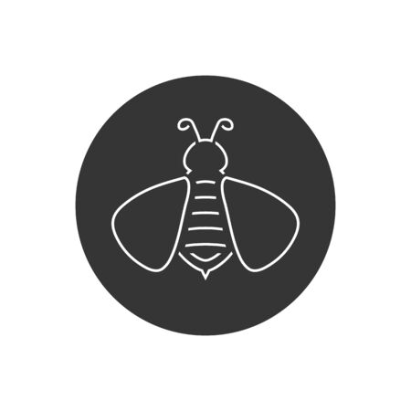 Bee line icon logo. vector in modern flat