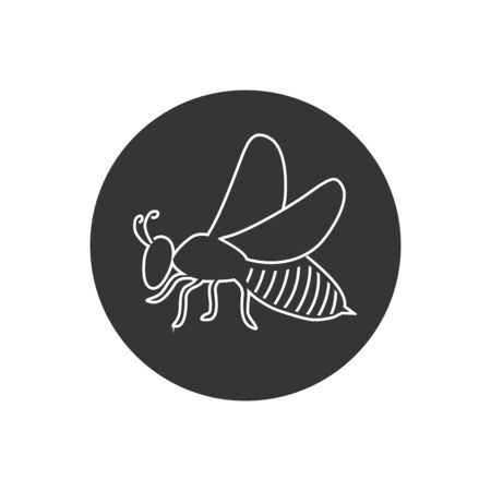 Bee line icon, vector illustration logo in modern flat style Stockfoto - 146653833
