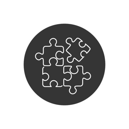 Best puzzle line icon. Vector illustration in modern flat style