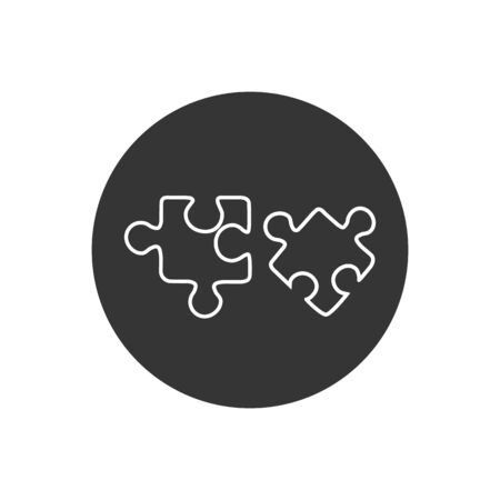 Puzzle line icon. Vector illustration in modern flat style  イラスト・ベクター素材
