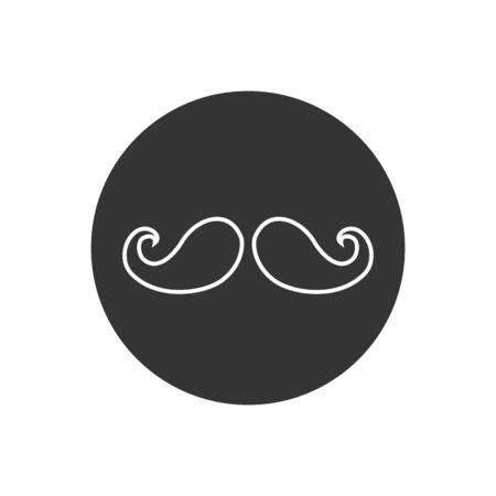 Mustache line icon vector illustration in modern flat style