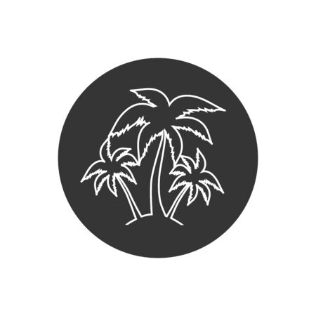 Palm tree silhouette line icon. simple flat vector illustration