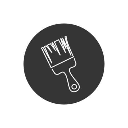 Paint brush line icon symbol vector illustration in modern flat style  イラスト・ベクター素材