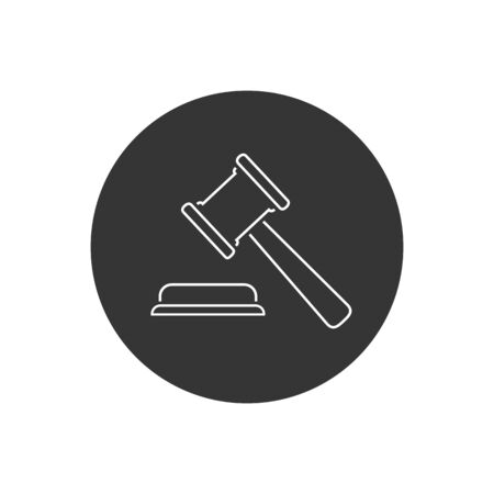 Judgement Justice line icon in trendy flat style. Vector Illustration 向量圖像