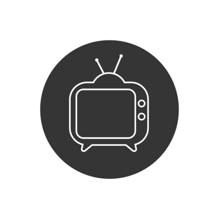 TV line icon. Tv Icon in trendy flat style isolated on white background. Television symbol for your web site design, logo, app, UI. Vector illustration