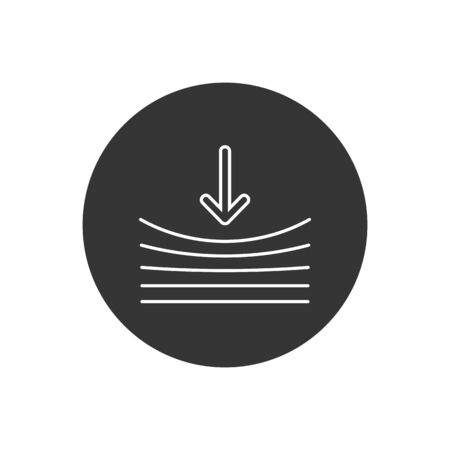 Resilience line icon on white. Vector illustration