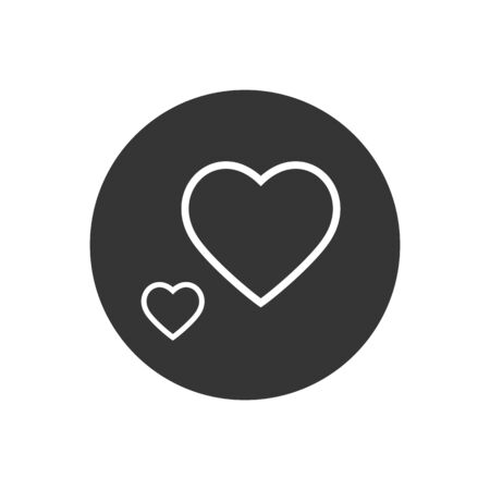 Heart Love Line Icon Vector Illustration