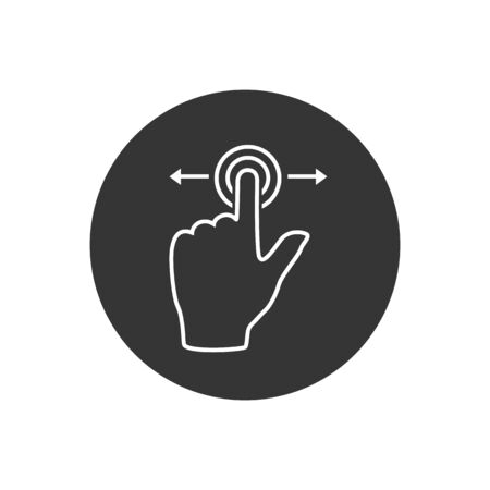 Gesture touch slide vector line icon, Gesture slide vector icon