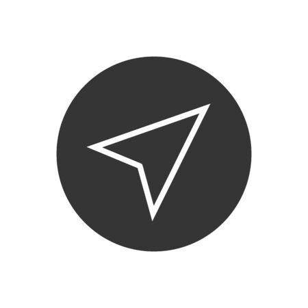 Arrow gps line icon on white. Vector illustration