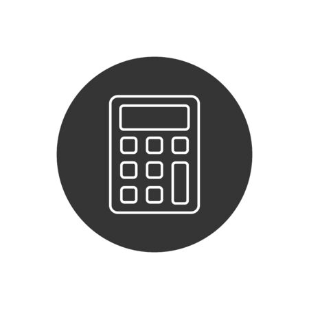 Calculator vector line icon. Vector web design