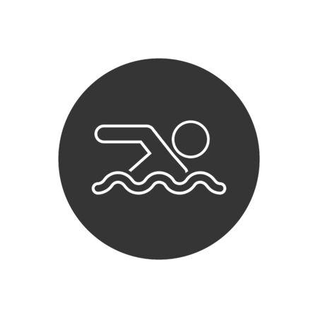 Swimming Line Icon on white. Vector illustration Vecteurs