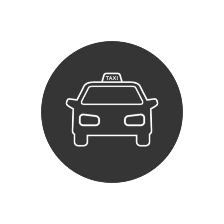 Taxi vector line icon on white