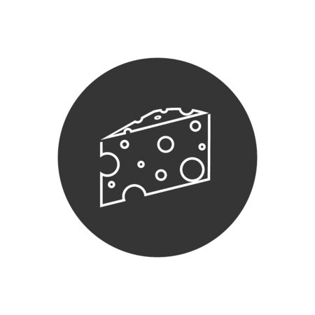 Cheese Line Icon. Farm Product Element Illustration As A Simple Vector Sign & Trendy Symbol for Design, Websites, Presentation or Application