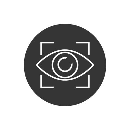 Eye line icon sign. Vector illustration in modern flat style Stock Illustratie