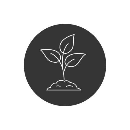 Leaf nature line icon on white. Vector in modern flat style Stock Illustratie
