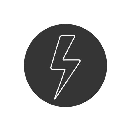 Lightning Line Icon vector. Lightning, electric power vector. Energy and thunder electricity symbol concept. Flash