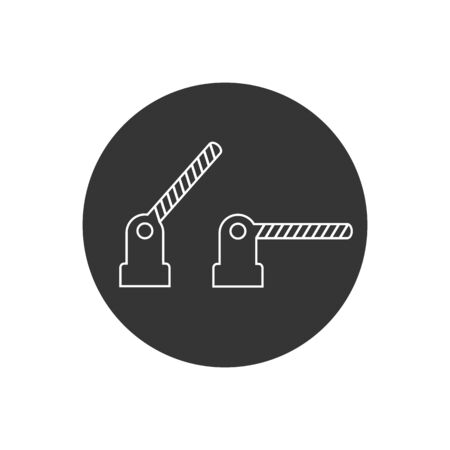 Open and close obstacles line icon. Vector illustration in modern flat style
