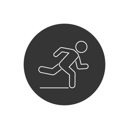 Runner line icon. element illustration. Runner symbol design. colored collection. Runner concept. Can be used in web and mobile