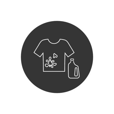 Stain remover symbol line icon design from Cleaning collection. Simple element vector illustration on white background  イラスト・ベクター素材