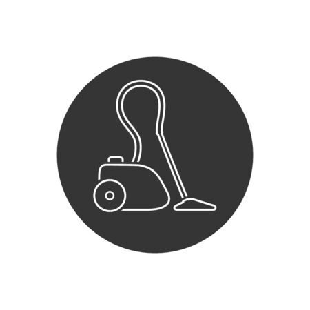 Electronics vacuum cleaner line icon. Vector illustration in modern flat style Stockfoto - 145708900