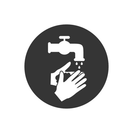 Please wash your hands icon sign. Vector illustration in modern flat style