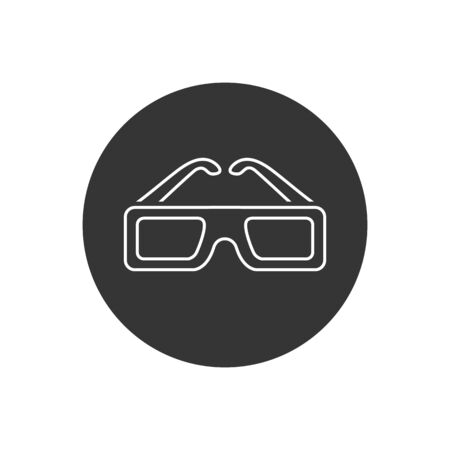 Augmented Reality Virtual Reality - 3D Glasses Line Icon. Vector in modern flat style
