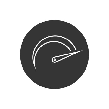 Speedometers line icon, isolated. Flat design. Vector in modern flat style