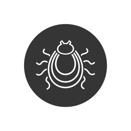 Tick line icon. Mite silhouette. Vector illustration. in modern flat style  イラスト・ベクター素材