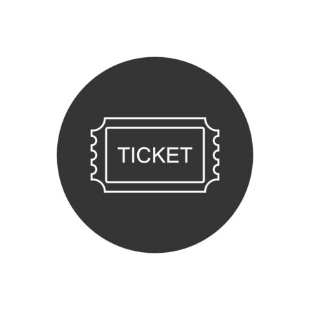 Ticket line Icon. Pass, Permission or Admission Symbol, Vector Illustration Template. Presented in Glyph Style for Design Websites, Presentation or Mobile Apps  イラスト・ベクター素材
