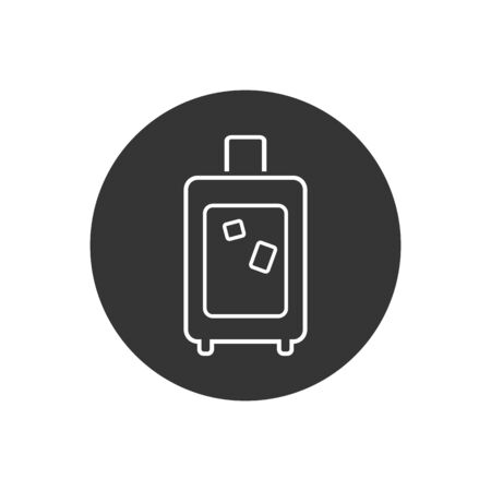 Traveling bag vector line icon in modern flat style  イラスト・ベクター素材