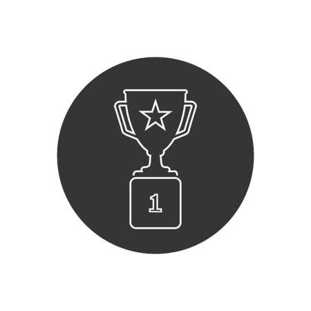 Trophy Line Icon in trendy flat style isolated on grey background. Prize symbol for your web site design, app, UI. Vector Stockfoto - 145709144