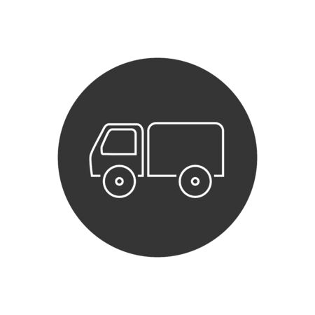 Truck line icon vector. Vector illustration in modern flat style Stockfoto - 145709149