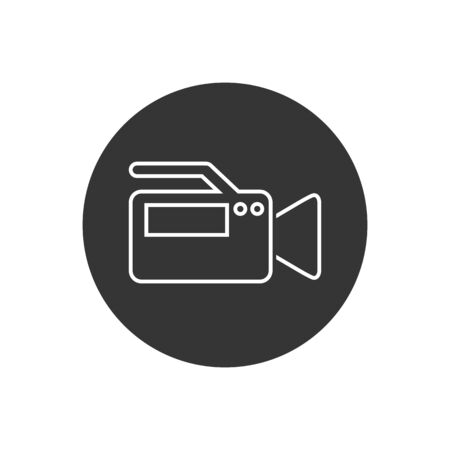 Video Camera Recorder Line Icon Vector Illustration in modern flat style  イラスト・ベクター素材