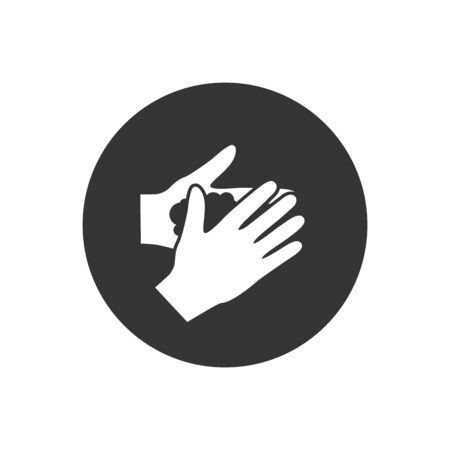 Please wash your hands icon sign. Vector illustration