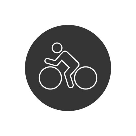 Bike line icon vector logo template in modern flat style