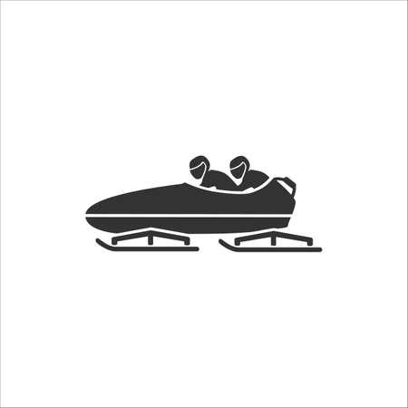 Bobsleigh icon. Vector illustration on white