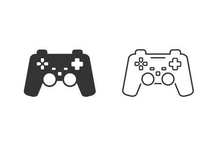Game controller line icon set. Illusztráció