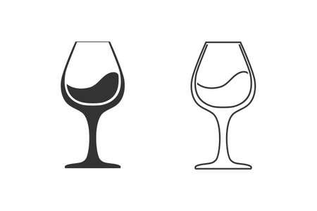 Wine line icon set symbol template illustration