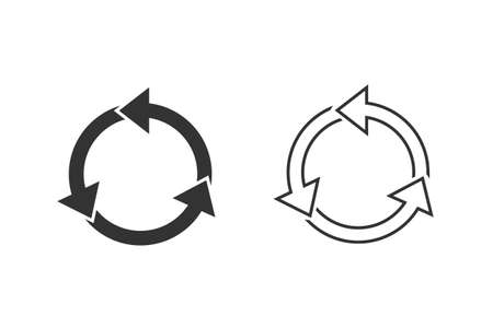 Circle arrows infographic template pie charts line icon set.