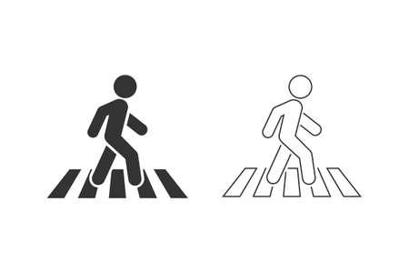 Crosswalk line icon symbol template. Illusztráció