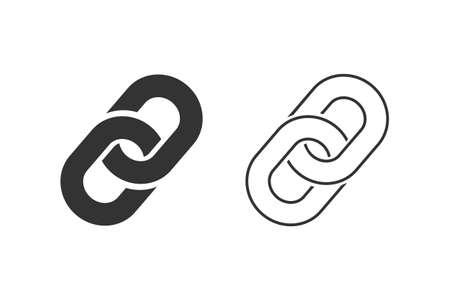 Link Symbol Line Icon Set