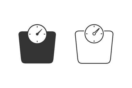 Scales line icon set on white.
