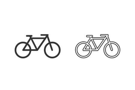 Bicycle line icon set. Bike icon illustration Illusztráció
